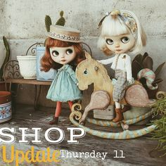 Hey peeps! Next Thursday is update time at ihavewingsatelier.com ☺ Lovely girly deluxe sets with canotier hats  and Tomboy pants sets on various colors.    #blythe #ihavewings  #dolls #dollstagram