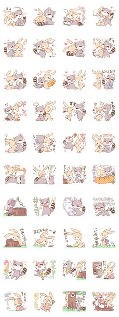 LOVE!Raccoons&Rabbit 2 - LINE Creators' Stickers