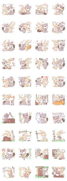 LOVE!Raccoons&Rabbit 2 - LINE Creators' Stickers
