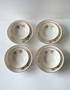 Noritake fine china bowls cereal bowls soup by JewelzAndBeyond