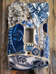 Eccentricities, Mosaics by Kelly Aaron It's a lightswitch plate!