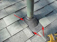 Roofing around a penetration.