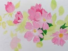 Image result for simple watercolour flowers