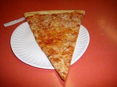 New York Pizza. the way I grew up eating NY pizza on a paper plate:)