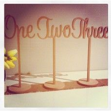 Table Numbers Words on Stick  - One to Ten