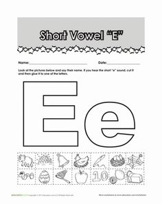 math worksheet : vowel sounds e  worksheets  activities  greatschools  school  : Short E Worksheets For Kindergarten