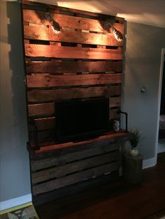 Homemade pallet TV stand