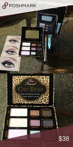 "🌺SALE!🌺TOO FACED EYESHADOW PALETTE + MORE🌺 🌺NEW!  TOO FACED ""CAT EYES"" EYESHADOW PALETTE + MORE-IT ALSO INCLUDES A LINER BRUSH & SHADOW INSURANCE*****NEW & UNTOUCHED***** Too Faced Makeup Eyeshadow"