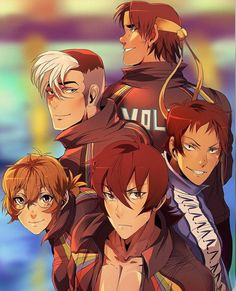 Shiro,  Pidge,  Hunk,  Keith, Lance x Free