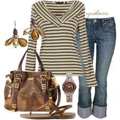browns and stripes
