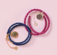 Material Matters – Jewelry (featured: the Braided Charm Bracelet in Venetian Paisley and Canterberry Magenta)
