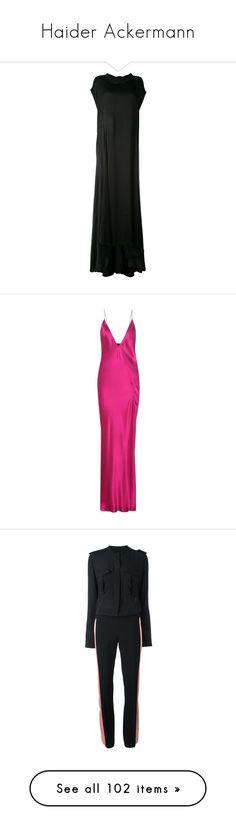 """Haider Ackermann"" by ahmady ❤ liked on Polyvore featuring dresses, long tshirt dress, long tee shirt dress, haider ackermann, tee shirt dress, long length dresses, pink slip dress, fuchsia pink dress, slip dress and pink silk dress"
