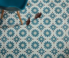 Cordoba is a feminine and playful design with a nod to retro style. Teal floral shapes surround a paler shade of geometric stars. They can be used in any room in the house, either on the floor or walls. 25... Read more
