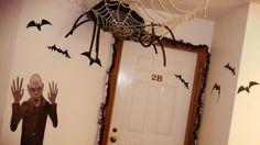 halloween door decor tarshamarielynn