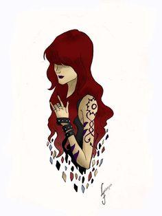 _Ilustração feita por mim, garota tatuada em estilo gótico...  cores: Victor Raniery   _Tatoo Gothic Chic made by me.  Colors: Victor Raniery