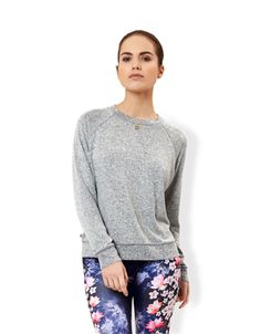 Grey Marl Sweat Top