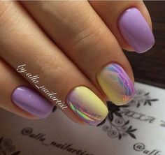 Gorgeous Metallic Nail Art Designs That Will Shimmer and Shine You Up - Stylendesigns - Broken glass nails, Color transition nails, Everyday nails, Ideas of gradient… - Winter Nails, Spring Nails, Summer Nails, Fancy Nails, Cute Nails, My Nails, Stylish Nails, Trendy Nails, Metallic Nails