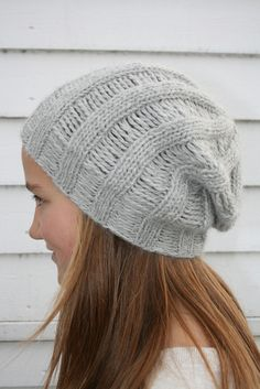 Ravelry: Drop Stitch Beanie ...in one evening by Cecilie Oddenes
