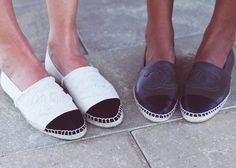 Chanel espadrilles - I'd happily have a pair (or more) of these in any colour/material...