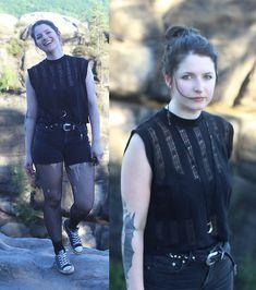 More looks by Maze: http://lb.nu/_maze_  #gothic #grunge #punk #goth #allblack #vintage #allblackeverything #black #fishnets