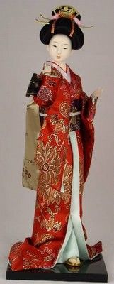 Japanese Geisha Oriental Doll ZS