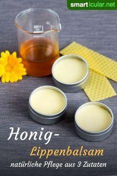 Aus nur vier natürlichen Zutaten kannst du einen heilsamen Lippenbalsam mit Honig selber machen, und das Rezept ganz nach deinen Bedürfnissen variieren.