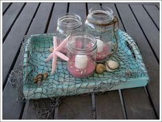 Beach Wedding Centerpiece by seweccentric, via Flickr