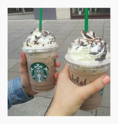 Starbucks with my best friend @nadinenine . We had a Java Chip Chocolate cream*-* yummi haha^^
