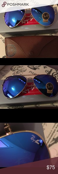 ray ban aviator rb3026 blue mirror glass  ray ban aviator rayban 3026 rb3026 aviators 112/69 blue mirrored 62mm aviators gold frame