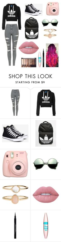 """""""Untitled #138"""" by claire394 on Polyvore featuring Topshop, Converse, adidas, Fujifilm, Revo, Accessorize, Lime Crime, Givenchy and Maybelline"""