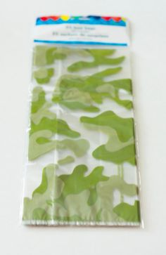 "25 Camouflage Cellophane favor bags, Boys Birthday Party Treat Bag, Cello Bag 5"" x 11"" Party Supplies by LuxePartySupply on Etsy"