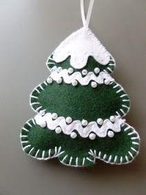 Coisas de Casa e Tal...: 40 Enfeites de Natal em Feltro