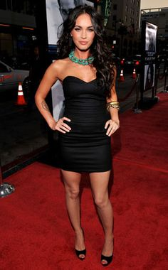 Megan Fox- hate her but love her hair and outfit here!!!
