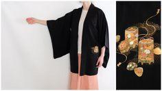 Traditional Japanese Vintage Kimono - Silk Kimono - Haori - Oriental Vintage Wear - Kimono Cardigan - Silk Kimono - Traditional Wear