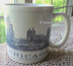 Starbucks 2006 Chicago Illinois The Windy City Architectural Coffee Cup Mug 18oz #Starbuck