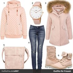 Schickes Damen-Outfit mit Fresh Made Hoodie, Cluse Uhr, Echtfell Wintermantel, Palladium Boots und schöner Handtasche. #cluse #fashion #freshmade #palladium #outfit