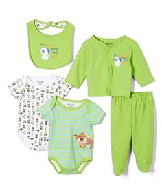 Sweet  Soft Baby Boys 5 Piece Cardigan Gift Set 36 Months Green Puppy ** Be sure to check out this awesome product.-It is an affiliate link to Amazon.