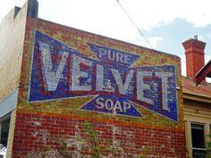 Velvet Pure Soap ghost sign, Australia