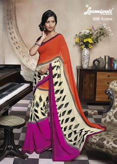Multi Colored Geogette Printed Saree specially Designed for memorable occasions.