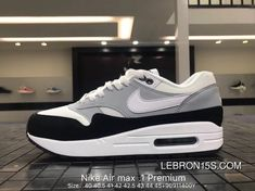 d74e166e8bf Nike Air Max 1 Premium Mens Suede Leather Retro Running Shoes AH8145-003  Wolf Grey White Best