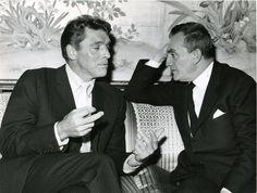 Burt Lancaster and Luchino Visconti during press conference for Il Gattopardo, photographed by Giovan Battista Poletto, 1962