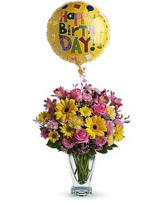 Happy Day Birthday Balloon Delivery Balloons Bouquet Send Flowers