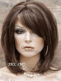medium layered hair - I like the Haircut even thou it is a wig