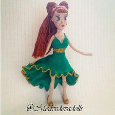 Каркасная кукла Мелиса Одежда для кукол платье Кукла крючком