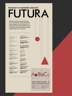 by Jaewon Park. Futura. Using the black/red background, this sheet almost look like a menu, which is very creative.