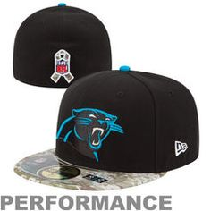 2ece974e8 Carolina Panthers New Era Black Digital Camo Salute to Service On-Field 59FIFTY  Fitted