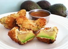 This fried avocado paired with this slammin dipping sauce is a magical combination. Grain Free, Gluten Free and Paleo.