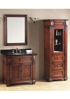 """Ronbow Traditions Torino 36"""" Bathroom Vanity Base Base Finish: Colonial Cherry"""