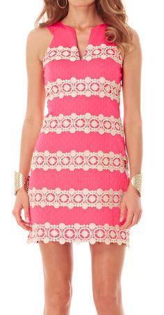 Lilly Pulitzer Augusta Shift Dress in Lipstick Pink
