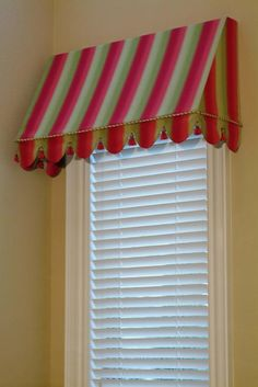 Think I need an awning type valance to go in the cute owl room